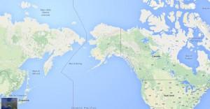 L'Alaska è separato dalla Russia dallo stretto di Bering