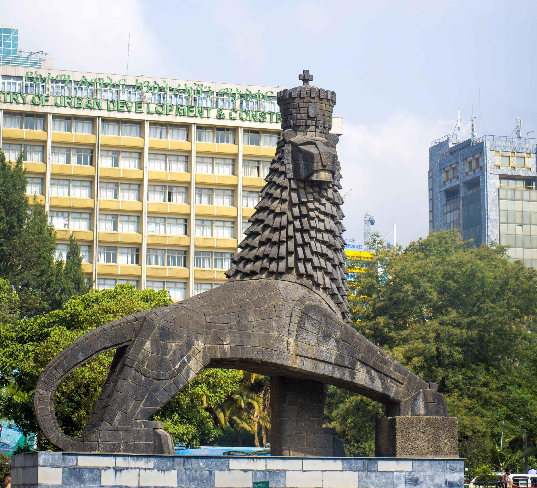 Addis Abeba, il Leone di Giuda simbolo degli imperatori etiopi e dell'Etiopia